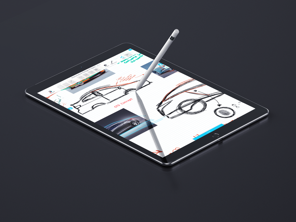 Using Apple Pencil to draw on iPad Pro in Collusion App